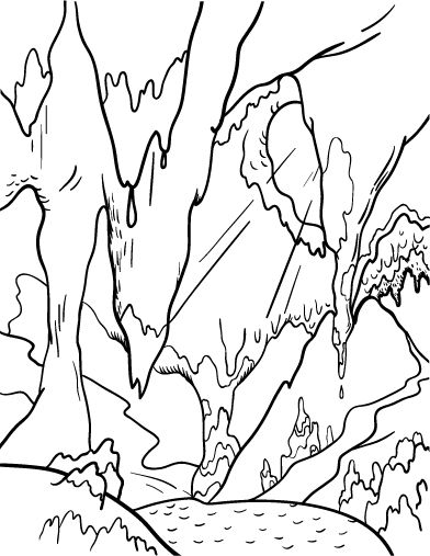 Printable Cave Coloring Page Free PDF Download At Coloringcafe