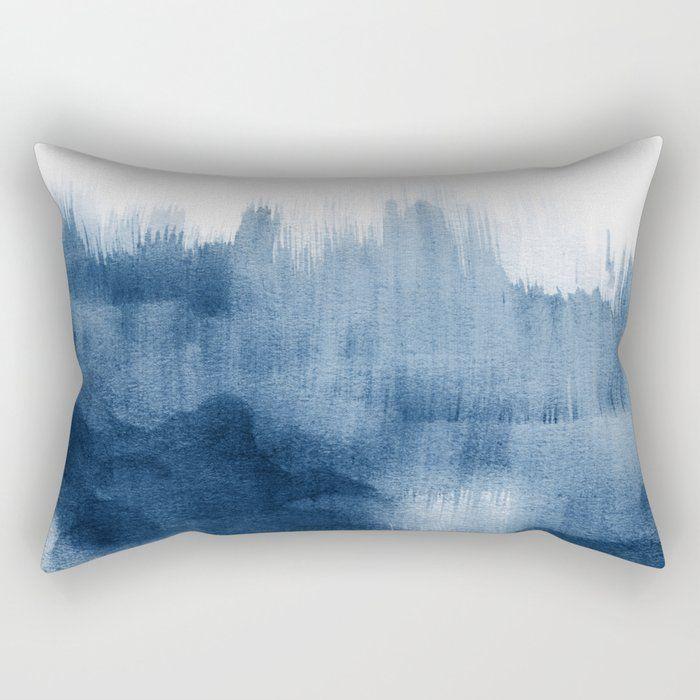 blue watercolor brush strokes