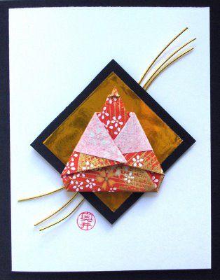 Girl's Day Card with Origami Empress - for Hina Matsuri 3/3