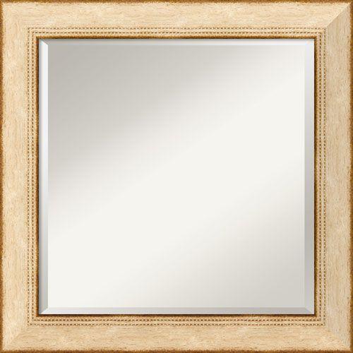 Highland Park Cream Wall Mirror - Square