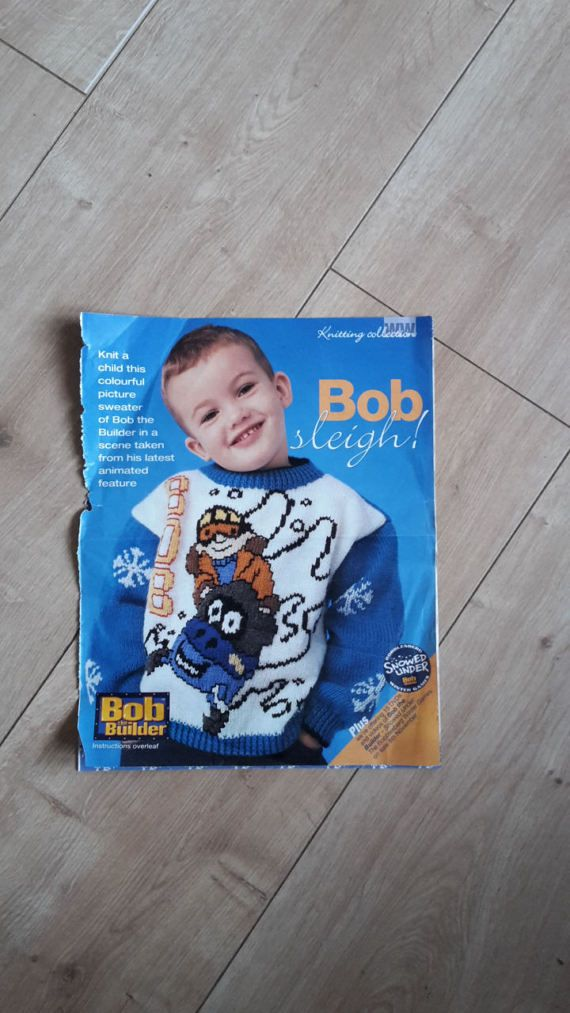 Bob The Builder Sweater Knitting Pattern Bob Sleigh Bob The