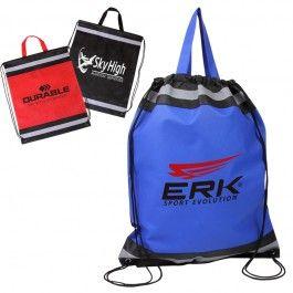 Visibility Drawstring Backpack w Reflective Panels  $1.79/ea     Jetline  (BG240)