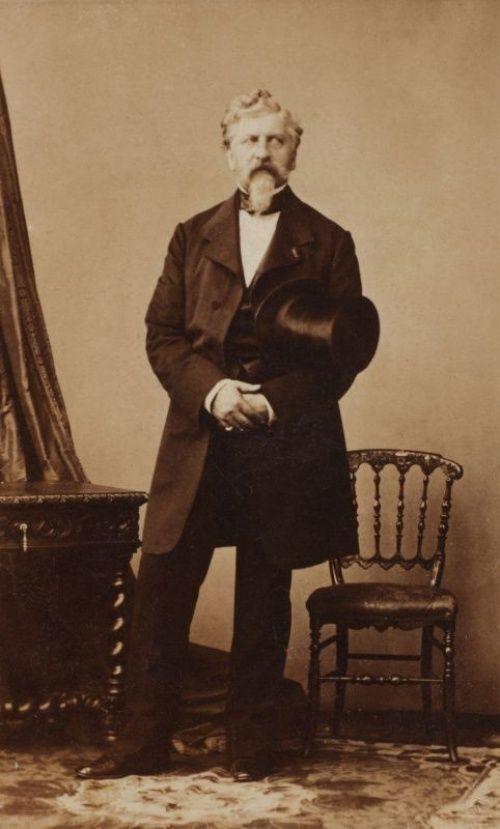 Жорж Шарль Дантес — убийца Александра Сергеевича Пушкина, 1860