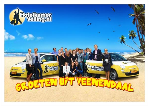 Het altijd vrolijke team! :) #hotelkamerveiling Lees meer over het team: http://www.hotelkamerveiling.nl/over-ons.html