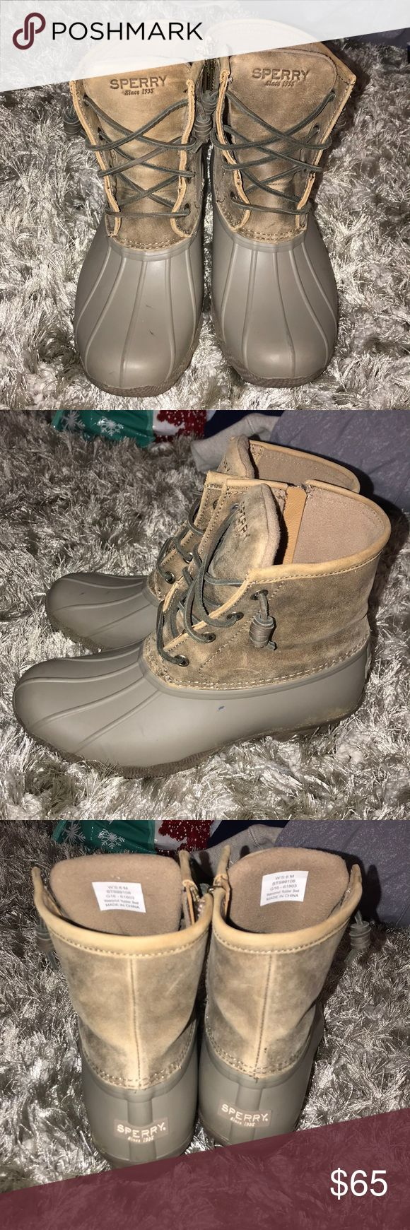 Sperry bean boots Worn a few times. Still in good condition. One or two small smudges. Sperry Top-Sider Shoes Winter & Rain Boots