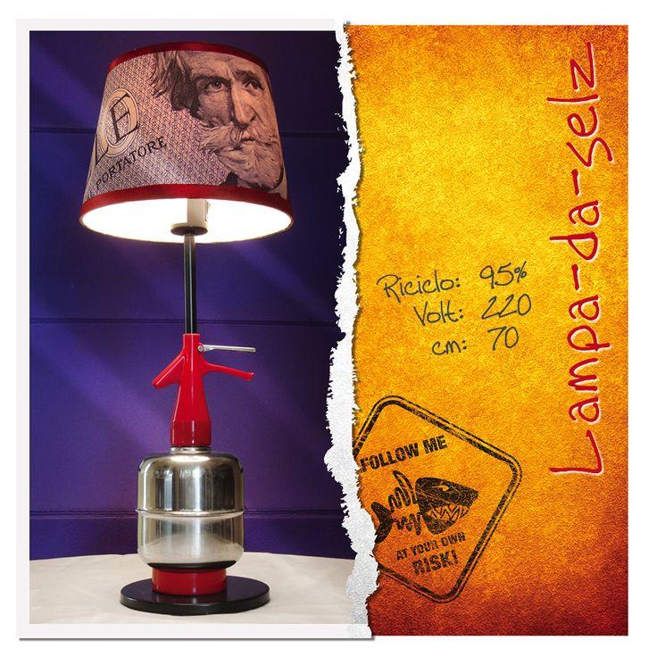 Lampada da tavolo 1000 lire #1000_lire #selz #bar #pub #lampada