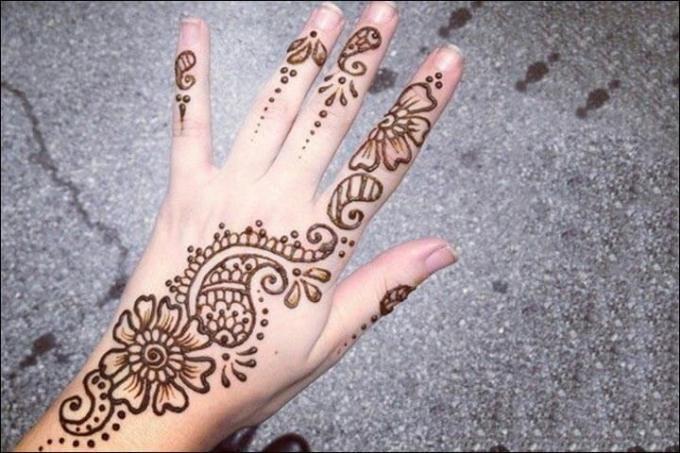 Gambar Inai Desain Tato Mehndi Designs Tato Henna