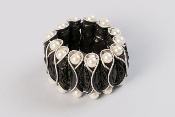Nespresso capsule bracelet - Customizable! Choose your flavor! Coffee jewelry. Upcycled coffee pods. Recycled, Eco friendly.