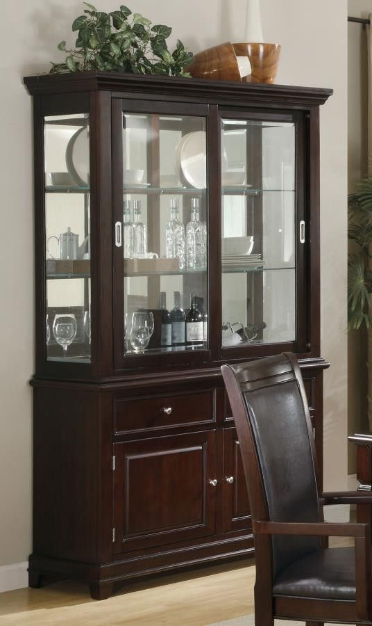 Ramona formal dining room buffet with hutch formal for Traditional dining room sideboard