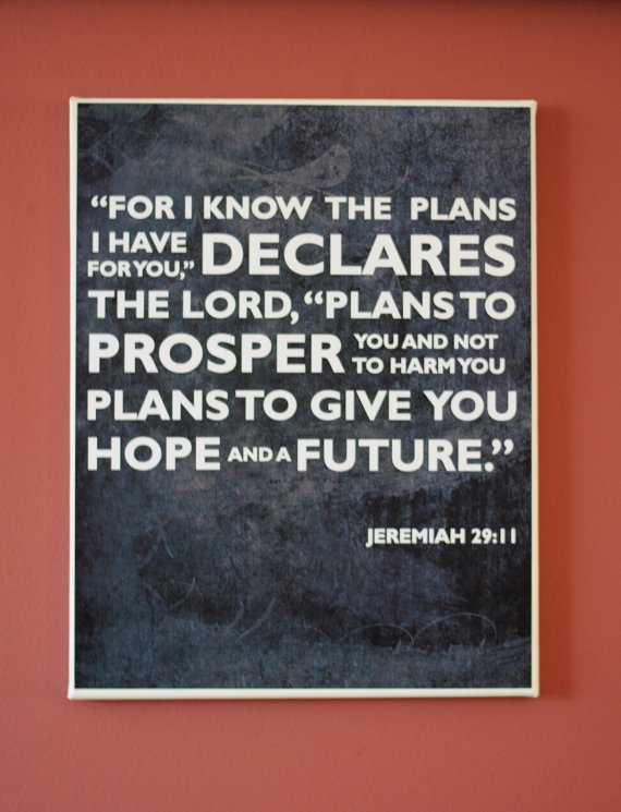 Bible Verse Print on Wrapped Canvas
