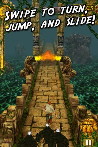 Every time my 12-year-old picks up my phone, this is what she plays...Temple Run.