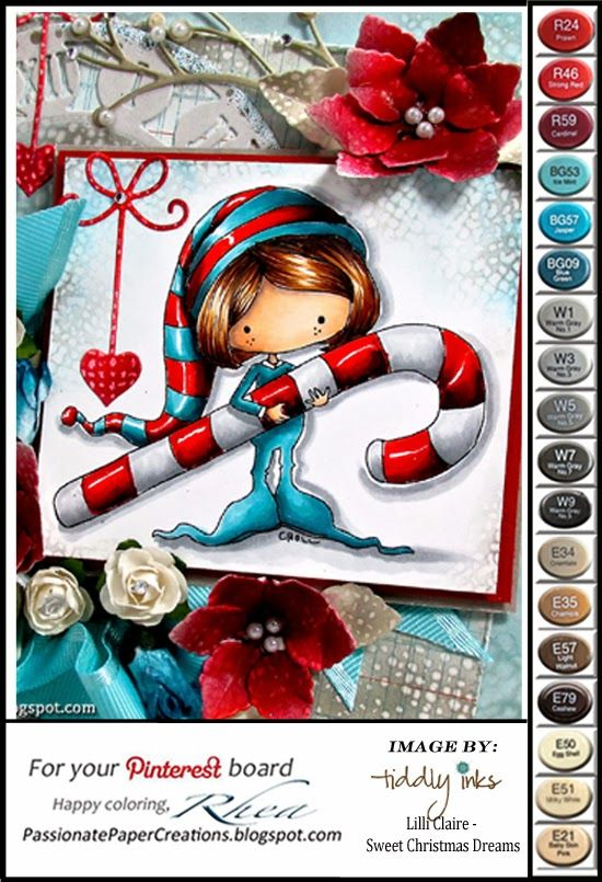 Whimsical child christmas copic colored.  Passionate Paper Creations: Color Palette For Pinterest