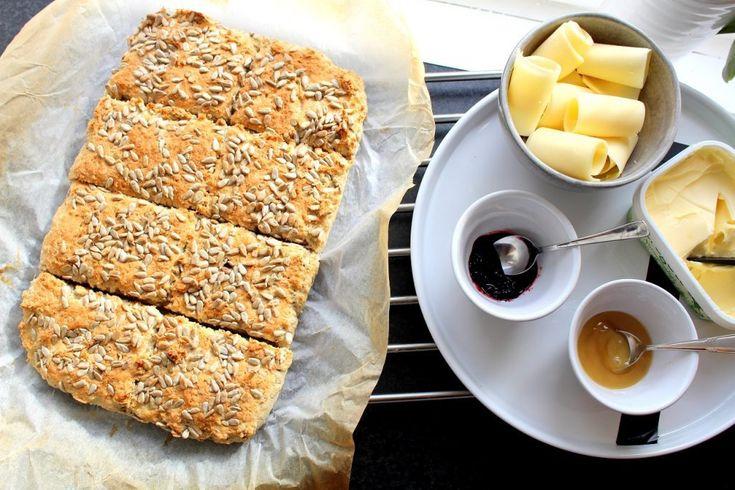 Glutenfritt bröd i långpanna
