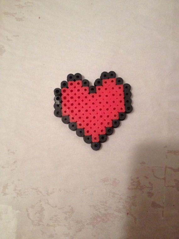Melting Rainbow Heart Perler Bead Pattern | Bead Sprites ... |Perler Bead Heart