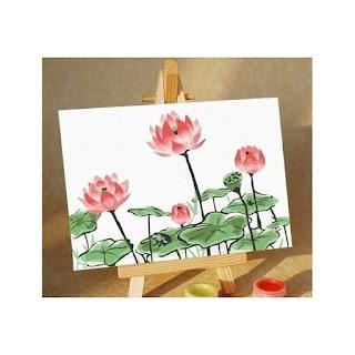 Melukis Sendiri Lotus in Bloom - Melukis Sendiri