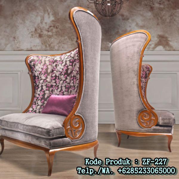 Kursi Sofa Model Sandaran Unik Lengkung http://www.zahirartfurniture.com
