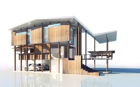 Queenslander house designs on queenslander house designs for Flood zone house plans