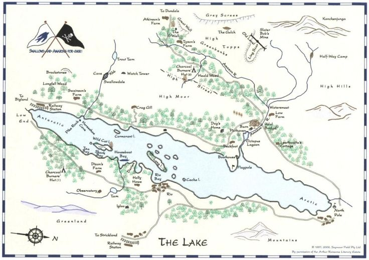 Swallows and Amazons, map of the lake