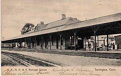 Railroad Station, Torrington, Connecticut, 1907