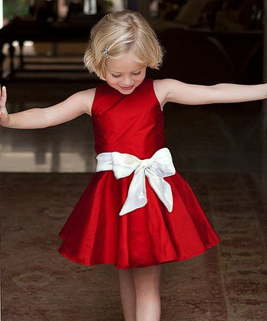 Look what I found on #zulily! Red Taffeta Dress - Toddler & Girls #zulilyfinds