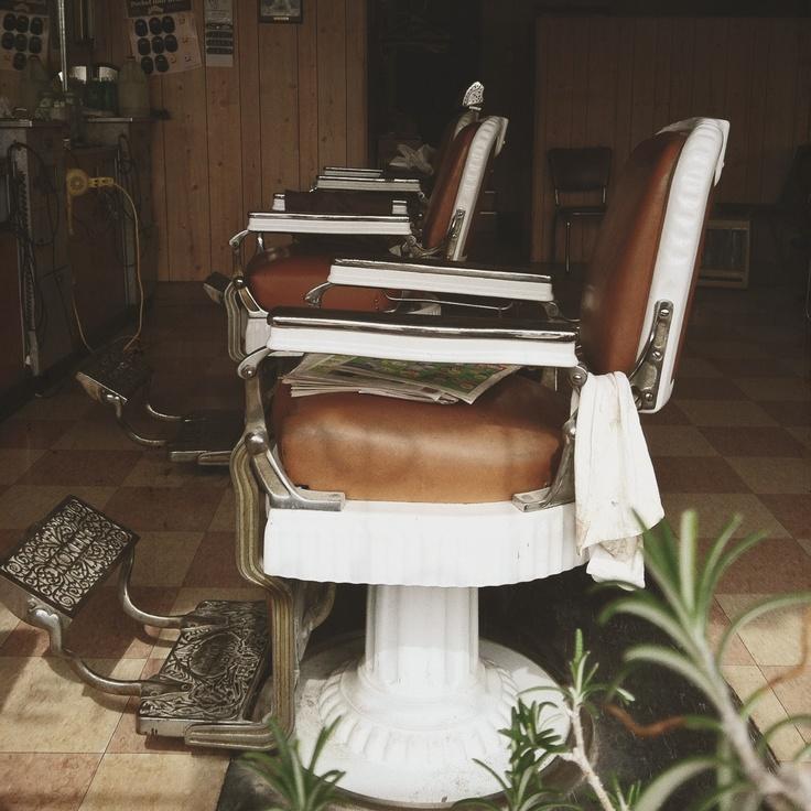 Old school barber shop chair.