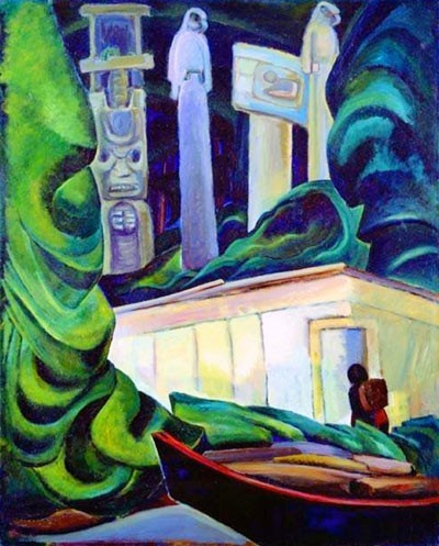 Emily Carr, contemporary of the Group of Seven  -  Indian Hut, Queen Charlotte Islands art