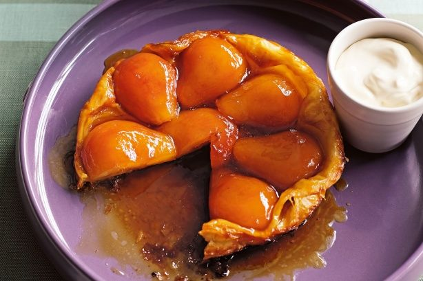 Flip this tart upside down to reveal the caramelised pears tucked underneath.