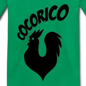 T shirt vert enfant Humour Cocorico le coq français chante N - T-shirt Premium Enfant
