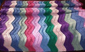 Easy Ripple Afghan - - free stash buster afghan crochet patterns - simpel om te maken met handleiding