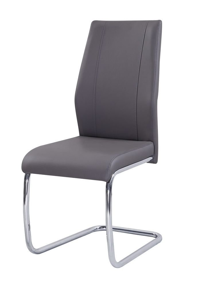 awesome Salle à manger - Chaise de salle à manger design métal et PU taupe Solea - Chaise moderne pas cher - MATELPRO