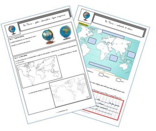La Terre. Géographie, cycle 3.  Issu de : La classe de Mallory