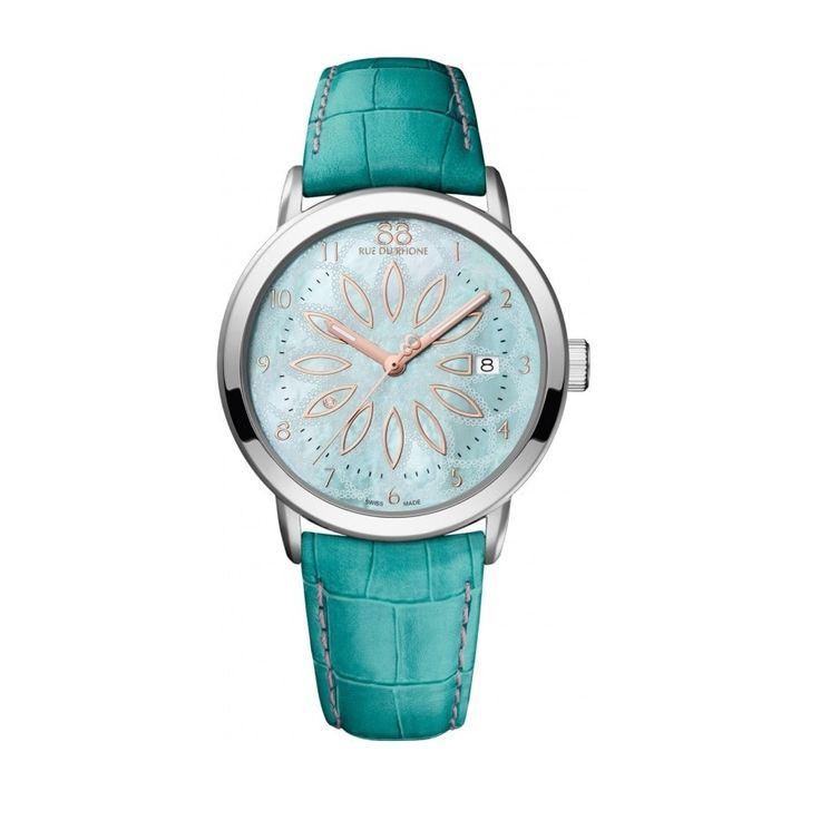 Rue Du Rhone Women's 87WA140015 'Double 8' Green Watch