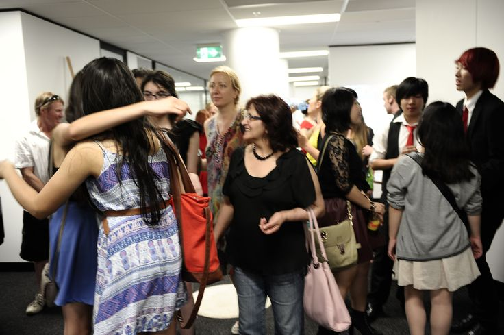Students and parents attending our #Graduation show.