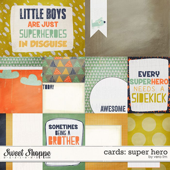 Superhero :: Cards by Vera Lim
