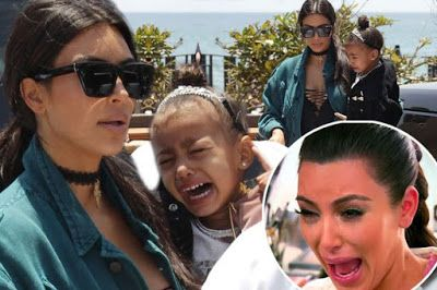 Like Mother like daughter-North West inherits Kim Kardashian's crying face(Photos)