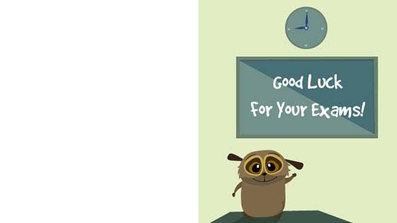 #Exam #Wishes – Choose from a variety of thank you cards, good day cards, best of luck cards from our collection of free greeting cards for kids which can be downloaded. For more cool #greetingcard for #kids, visit: http://mocomi.com/fun/arts-crafts/printables/cards/