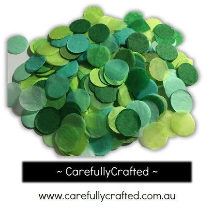 CarefullyCrafted - 25 Grams Tissue Paper Confetti - Green Shades - 1 inch Circles  - wedding, wedding planning, party, party planning, confetti, confetti pieces, paper pieces, green confetti, green, green paper pieces, event, event décor, decoration, tableware, circle confetti, party fun http://carefullycrafted.com.au/25-grams-tissue-paper-confetti-green-shades-1-inch-circles-cc5/