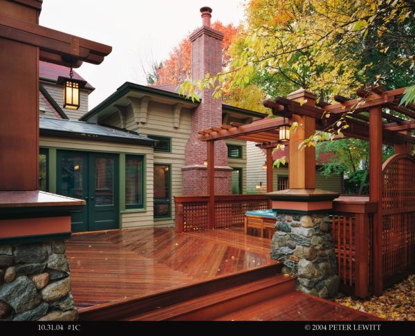 craftsman style a unique deck and pergola featuring cedar