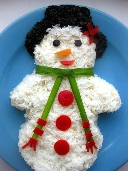 "Salad ""Snowman"""
