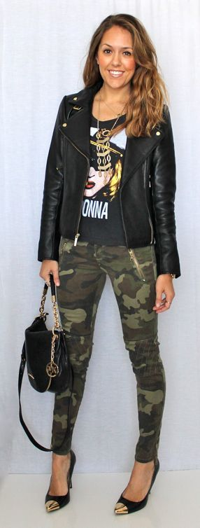 20 Fall Outfits for Inspiration-- some of these I love.... like the camo with the rockstar tee