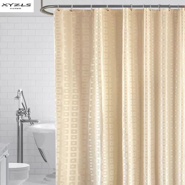Xyzls Modern Shower Curtain Waterproof Mildew Proof Polyester