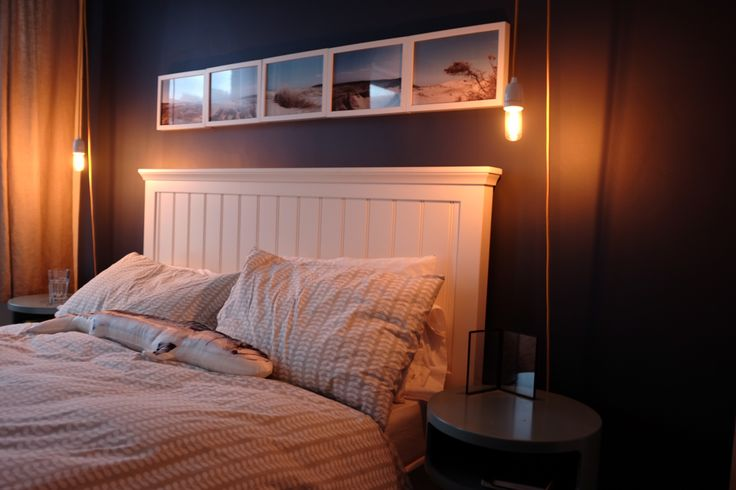 Downtown bed from John Lewis, tables from habitat and lights from Dyke and Dean
