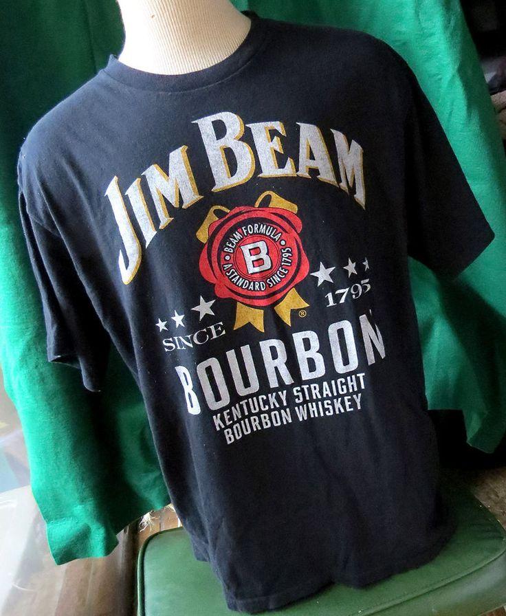 Jim Beam Bourbon Kentucky Whiskey Mens Black T-Shirt Sz XL Liquor Drinks Booze #JimBeam #GraphicTee