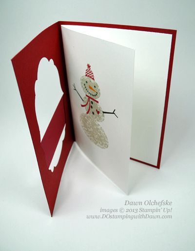 QC: Swap Inspired Snow Day Label Framelit Window Card - DOstamping with Dawn, Stampin' Up! Demonstrator