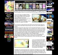 Moonkitty.NET's Version 4 layout that ran from the 23rd of October 2000 to the 11th of February 2002. Really liked this one!