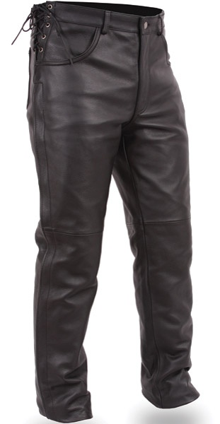 First Manufacturing Co. Men's Deep Pocket Leather Overpant ($157.99), via J Cycles, World's Largest Aftermarket Motorcycle Parts and Accessories.