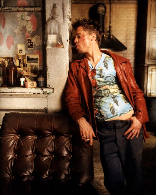 Brad Pitt? Fight Club maybe but looking so bohemian