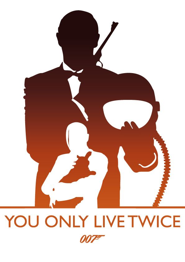 You Only Live Twice, James Bond by Phil Beverley, via Behance