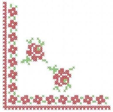 cross stitch rose ile ilgili görsel sonucu