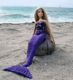 Barbie Mermaid Doll - Girls will love these beautiful mermaid dolls!  Each doll - in either pink or purple - is dressed in pretty ruffled  o...